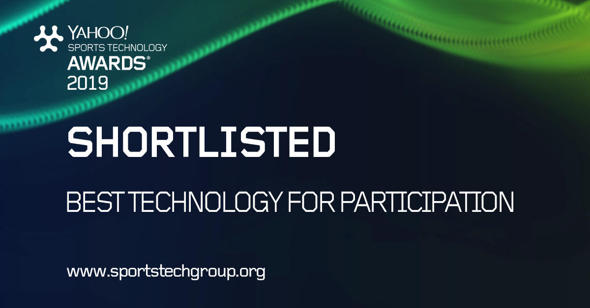 Sports Technology Awards 2019 Shortlisted for Best Technology for Participation