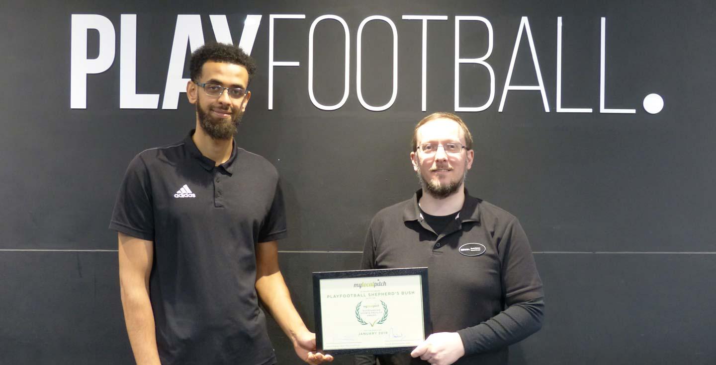 Playfinder Outstanding Sports Facility Award - PlayFootball Shepherd's Bush