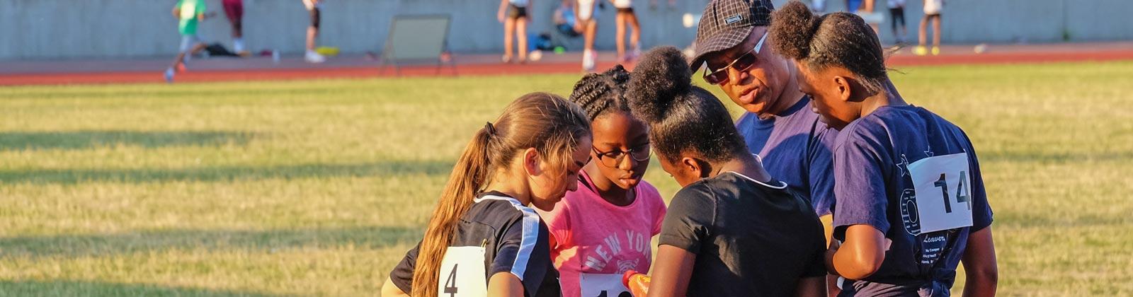 Track Academy Team Huddle