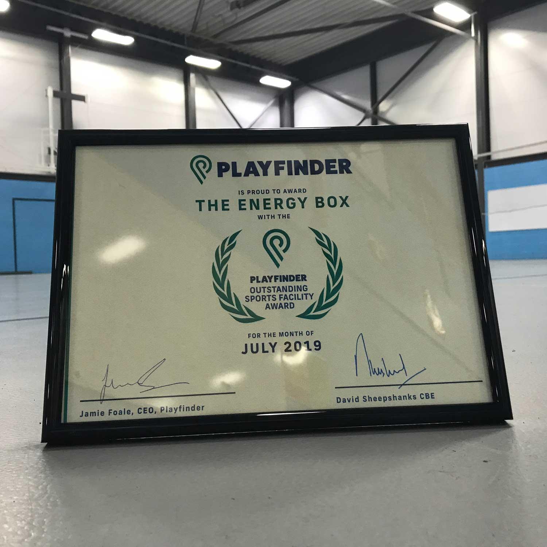 Playfinder Venue Award for The Energy Box